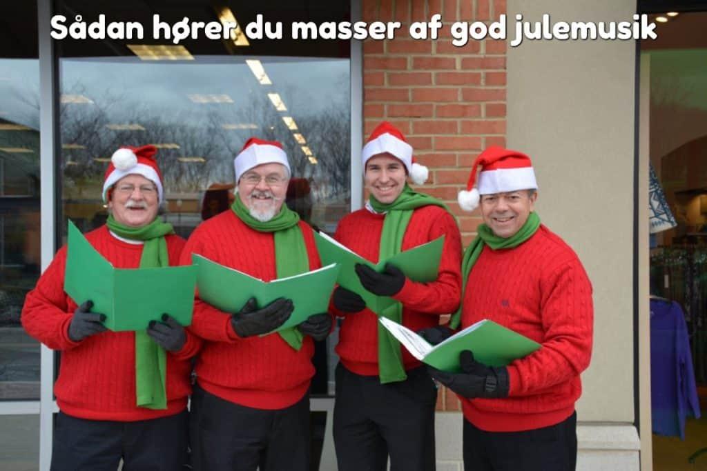 Sådan hører du masser af god julemusik